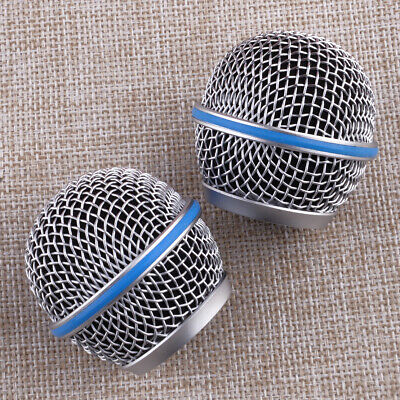 2Pcs Microphone Grill Mic Grille Ball Head Mesh Fit For Shure Beta58A SM58 New • 7.59£