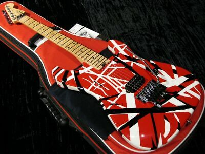 EVH Striped Series 6 String Electric Guitar - Red With Black Stripes • 1,274.32£