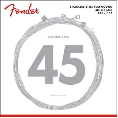 Fender Stainless 9050L Bass Strings, Stainless Steel Flatwound, Gauge .045-.100 • 19.58£