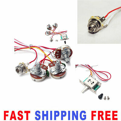 Electric Guitar Wiring Harness Kit 5 Way Switch Volume For Fender ST Strat • 7.84£