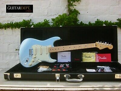 ♚SUBLIME♚'13 FENDER American Deluxe PLUS STRATOCASTER ♚ICE BLUE METALLIC♚+Extras