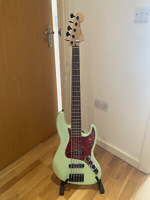 Fender Deluxe Active Jazz Bass V 5 String Surf Pearl