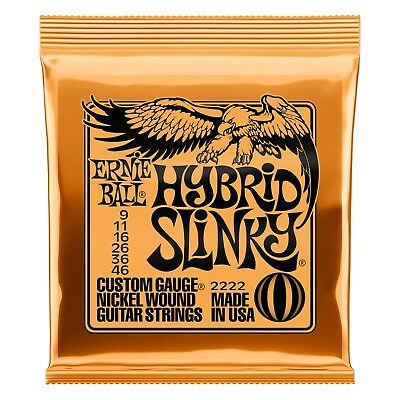 100 Pack! Ernie Ball 2222 Hybrid Slinky 9-46 Electric Guitar Strings Free Ship! • 346.33£