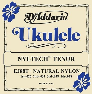 3 Pack! D'Addario EJ88T Nyltech Tenor Ukulele Strings Natural Nylon Free US Ship • 16.49£