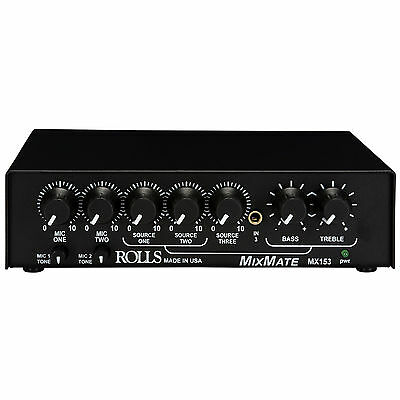Rolls MX153 MixMate Half Space 5 Channel Microphone Mixer W/ • 97.68£