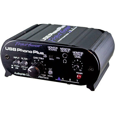 ART USB Phono Plus PS Phono Preamp With USB Interface • 83.28£