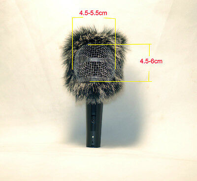 Microphone Furry Fur Windscreen Cover For Shure SM58 Beta 58 87A PG58 PGA48LC   • 8.73£