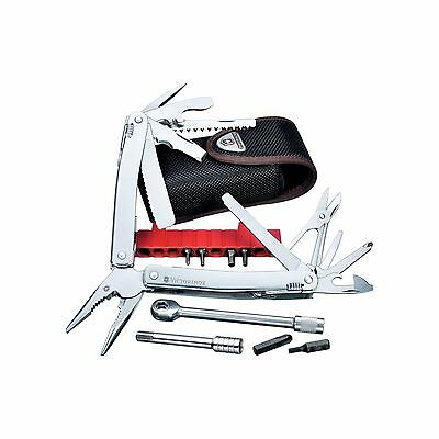 Victorinox Swiss Tool Spirit Plus Ratchet - Stainless Steel W/ Leather Pouch • 121.41£
