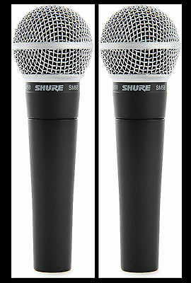 (2) New Shure SM58 Vocal Mics  Authorised Dealer Make Offer Buy It Now! • 141.64£