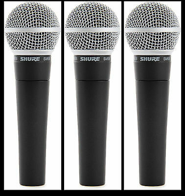 (3) New Shure SM58 Vocal Mics  Authorised Dealer Make Offer Buy It Now! • 212.46£