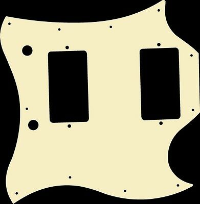 Pickguard Pick Guard Scratchplate for Gibson SG Standard Guitar Ivory Acrylic
