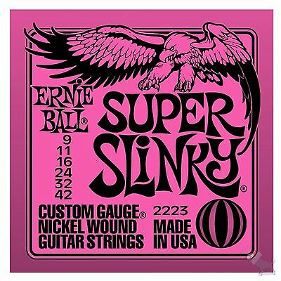Ernie Ball 2223 Nickel Super Slinky Custom Gauge Electric Guitar Strings (9-42) • 4.98£