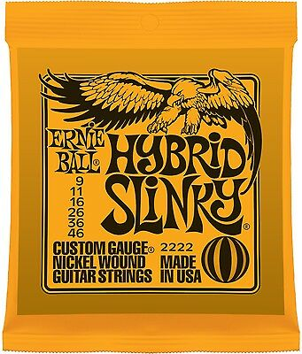 Ernie Ball 2222 Nickel Hybrid Slinky Electric Guitar Strings Single Pack (9-46) • 4.32£