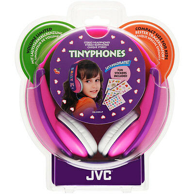 JVC Girls Tiny Phones Pink/Purple Headphones, Decorated With Supplied Stickers 4 • 19.99£