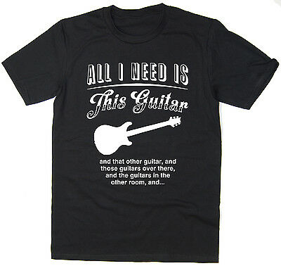 All I Need Is This Guitar - PRS Funny Guitar T-shirt - Many Colours • 7.99£