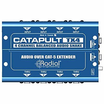 Radial Engineering Catapult TX4M Cat5 Audio Receiver 2 Day Delivery • 180.89£