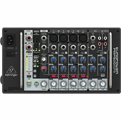 New Behringer Europower PMP500MP3 500W 8 Ch Powered Mixer Make Offer! MP3 Player • 194.65£