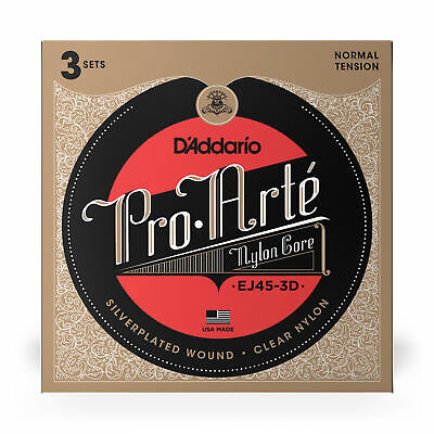 3 Sets Of D'Addario EJ45 Pro-Art Nylon Normal Tension Classical Strings • 18.75£