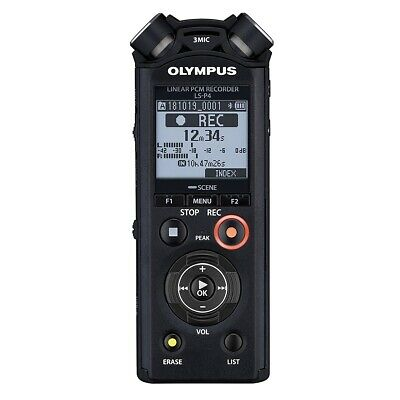 Olympus V409160BE000 LS-P4 Linear PCM Digital High Resolution Voice Recorder • 178.99£