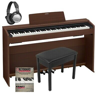Casio Privia PX-870 Digital Piano - Brown COMPLETE HOME BUNDLE • 711.26£