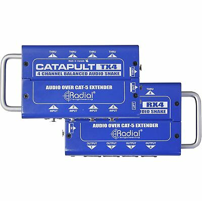 Radial Engineering Catapult RX4 Cat5 Audio Receiver (8 XLR Out) Receive W/ 8 XLR • 100.35£