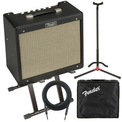Fender Blues Junior IV Guitar Amplifier COMPLETE STAGE BUNDLE • 492.03£