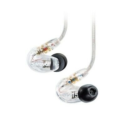 Shure SE215 Single Driver IEM Earphones Replaceable Cable - Clear - Refurbished • 79£
