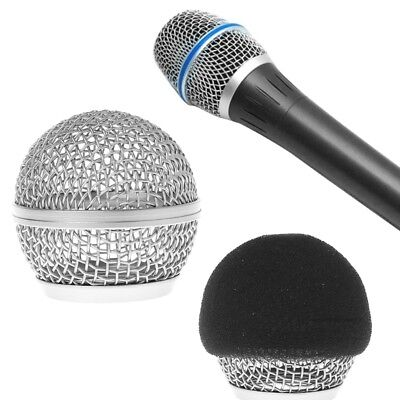 Replacement Head Ball Mesh Microphone Grille For Shure BETA58 BETA58A SM58 SM58S • 3.20£