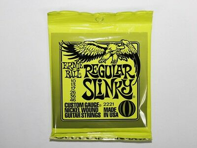 Ernie Ball Electric Guitar Strings Regular Slinky 2221 010-046 New Free Shipping • 5.25£