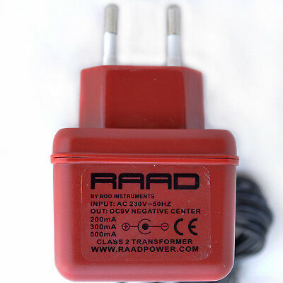 RAAD DC 9V Regulated Power Supply Center Negative Minus Tip Adapter Guitar Pedal • 25.95£