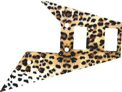 Gibson Flying V Pickguard for '67 Re-Issue Custom Guitar Graphical Cheetah Print