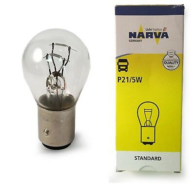 New NARVA 12V 21W Parking Bulb 1016 Squint Claw Dual Socket 17916 BAY15d P21/5W • 5.13£