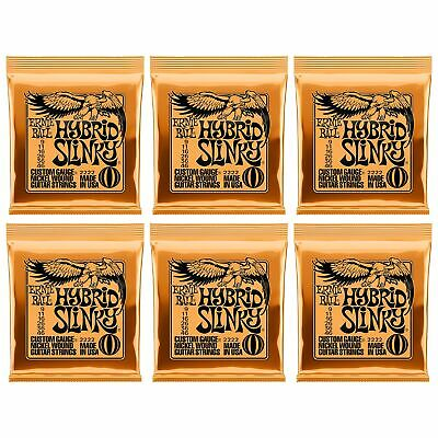 6-Pack Ernie Ball 2222 Hybrid Slinky Nickel Wound Electric Guitar Strings (9-46) • 19.98£