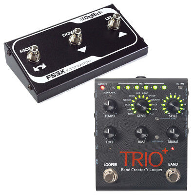 DigiTech Trio+ Plus Band Creator And Looper Guitar Effects Pedal W/ FS3X Switch • 295.84£