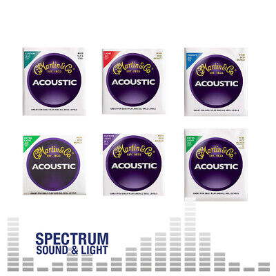 Martin Bronze Acoustic Guitar Strings (GROUP) Choice MA 130 140 150 160 170 180