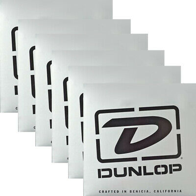 6-Pack Dunlop DBSBN45125T Super Bright Nickel Tapered Bass 5-String Set 45-125 • 189.51£