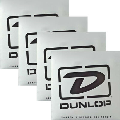 4-Pack Dunlop DBSBN45125T Super Bright Nickel Tapered Bass 5-String Set 45-125 • 126.34£