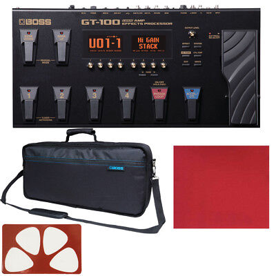 Boss GT100 GT-100 COSM Amp Effects Processor W/ Ver. 2 Update And Carrying Bag • 372.64£