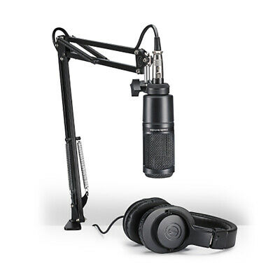 Audio Technica AT2020 Streaming / Podcasting Pack Microphone Headphones Bundle • 107.31£