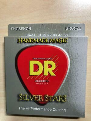 DR Strings SIA-11 Silver Stars Acoustic Coated Guitar Strings 11s • 6.07£