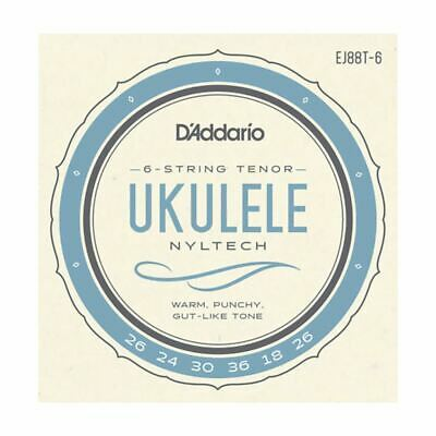 Ukulele Strings - D'addario Ej88t-6 - Nyltech - 6 String Tenor Set - Gcea High G • 9.99£