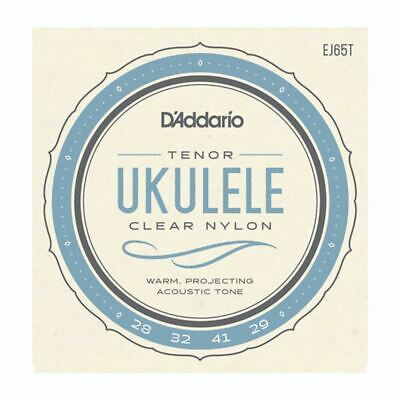 Ukulele Strings - D'addario Ej65t - Clear Nylon - Tenor Set - Gcea High G • 6.79£