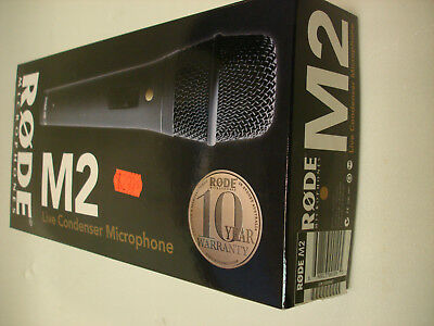 RODE M2 NEW FREE SHIPPING Hand-held Vocal Condenser Microphone Live / Studio   • 128.05£