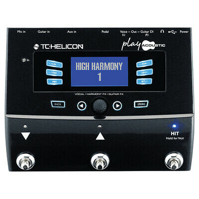 TC.HELICON TC082 Play Acoustic Vocal FX And Guitar FX Pedal • 299.99£
