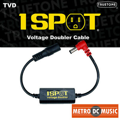 Truetone TVD Pedal-Voltage-Doubler Cable 1-Spot 9-18 12-24 No Switch Noise NEW • 16.49£