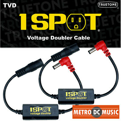 2-Pack Truetone TVD Pedal-Voltage-Doubler Cable 1-Spot 18V 24V No Switch Noise • 28.54£