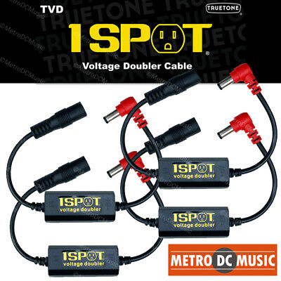 4-Pack Truetone TVD Pedal-Voltage-Doubler Cable 1-Spot 18V 24V No Switch Noise • 53.80£