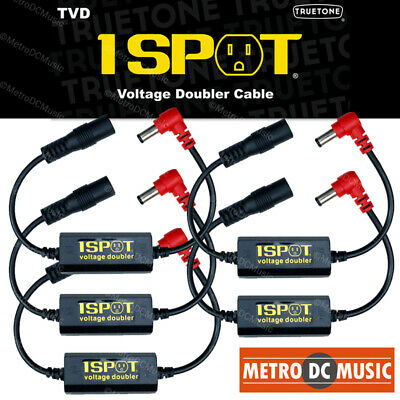 5-Pack Truetone TVD Pedal-Voltage-Doubler Cable 1-Spot 18V 24V No Switch Noise • 66.18£