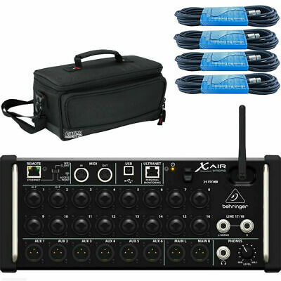Behringer X Air XR18 With Gator Case & XLR Cables • 449.62£