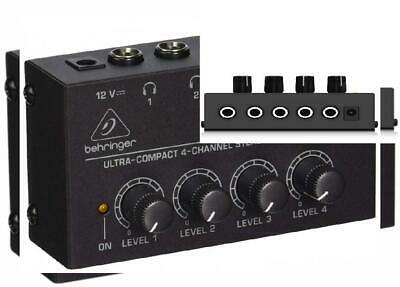 Behringer Microamp HA400 Ultra-Compact 4-Channel Stereo Headphone Amplifier   • 30.71£